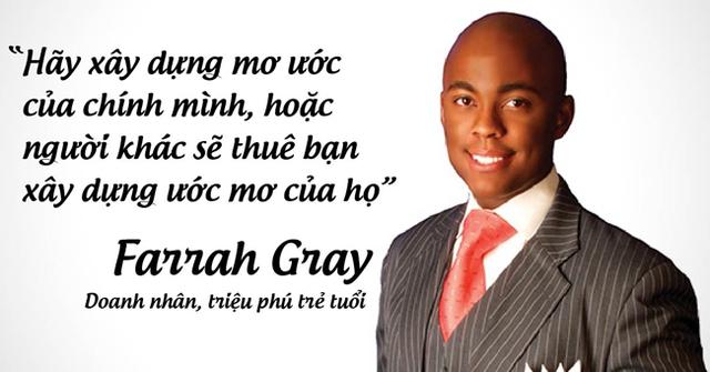 Doanh nhân, triệu phú trẻ tuổi Farrah Gray.