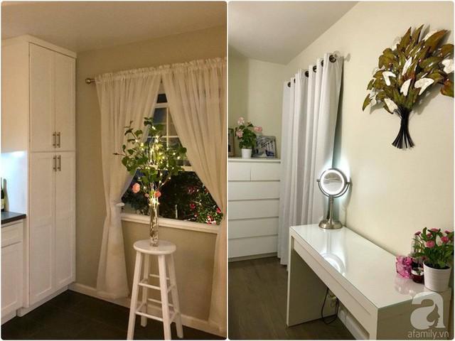 Không gian bên trong được lát sàn gỗ mát mẻ, tôn lên vẻ đẹp tinh tế của nội thất gỗ màu trắng.