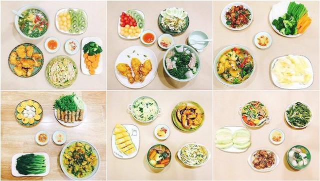 Một vài bữa ăn trong chuỗi 30 mâm cơm mỗi tháng của chị Nghĩa