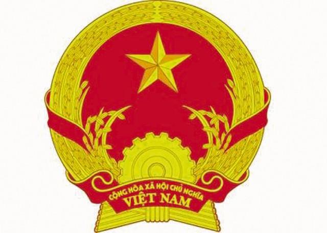 Quốc huy Việt Nam. Ảnh: T.L