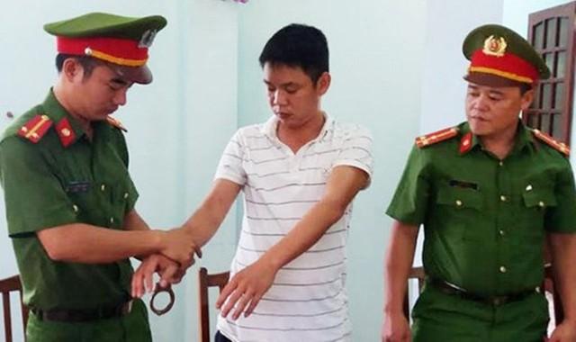 Đối tượng Tình bị cơ quan công an bắt giữ.