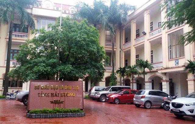 Sở GD & ĐT tỉnh Hải Dương, nơi anh S. công tác và bỏ cơ quan không về lấy quyết định. Ảnh: Đ.Tuỳ