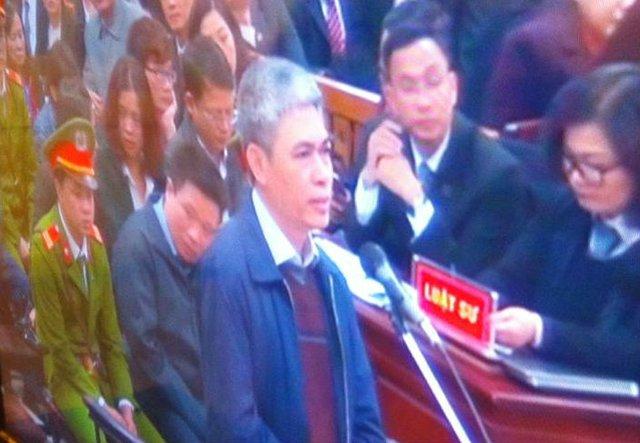 Bị cáo Nguyễn Xuân Sơn - nguyên Tổng Giám đốc OceanBank.