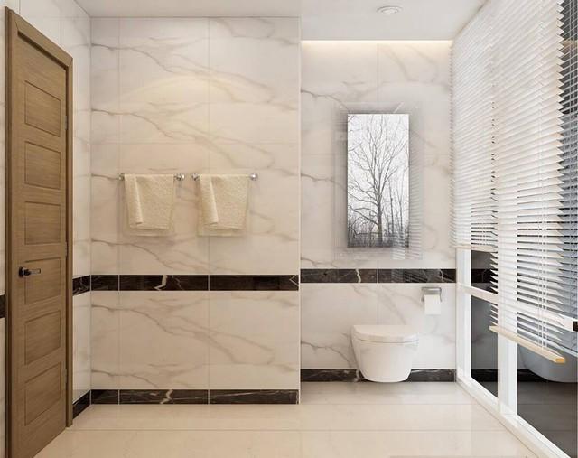 Phòng tắm trang trí như khách sạn 5 sao