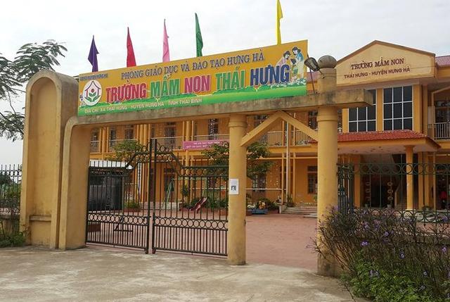 Trường Mầm non Thái Hưng, nơi xảy ra sự việc.