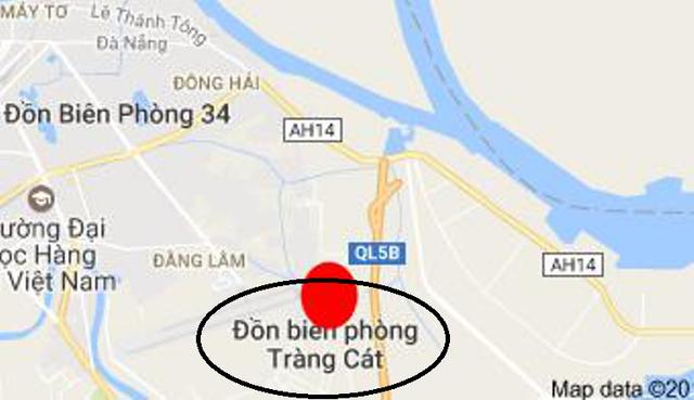 Đồn biên phòng Tràng Cát, nơi thiếu tá Hanh tử vong. Ảnh: Internet