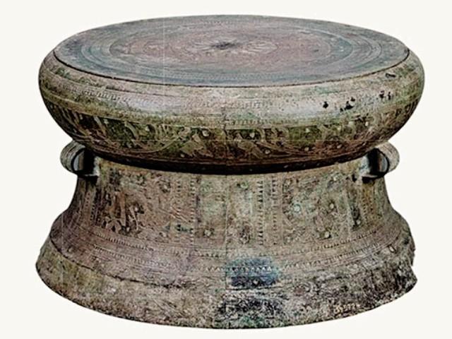 Trống đồng Đông Sơn., biểu tượng văn hóa VN. Ảnh: T.L