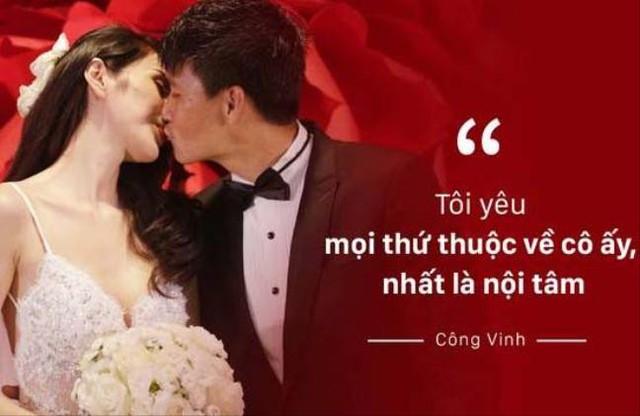 Công Vinh không ngần ngại nói những lời lãng mạn với người vợ mà mình nhất mực yêu thương