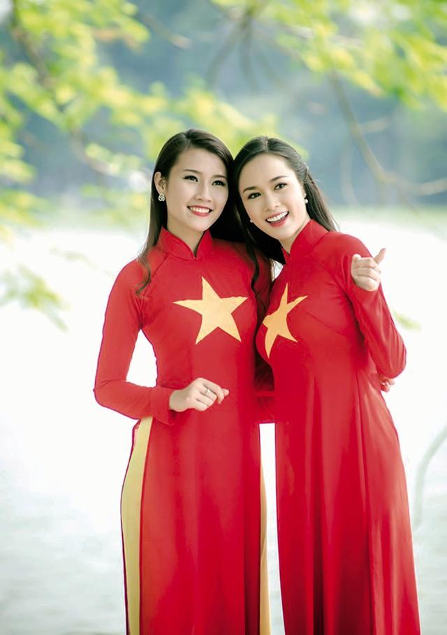 Sắc màu đất nước trong tà áo dài truyền thống VN. Ảnh:T.L