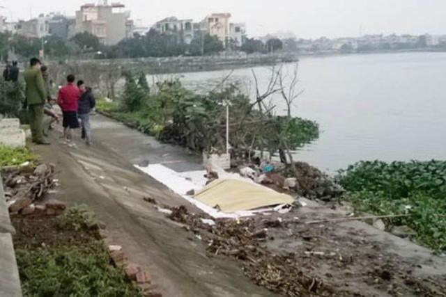 Đoạn sông Sặt gần cầu Cất phát hiện thi thể ông H. Ảnh: N.Mai