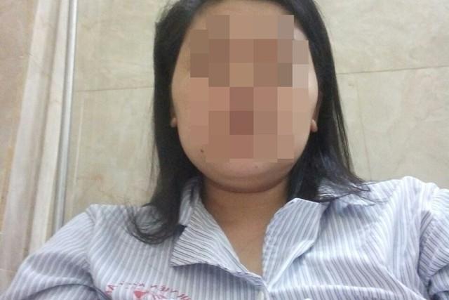 Chị M. hiện đang được điều trị tại bệnh viện đa khoa Kiến An. Ảnh do nhân vật cung cấp.