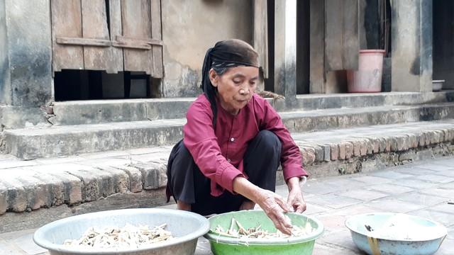 Bà Vũ Thị Ngần (ở thôn Định Hưng, xã Thạch Định). Ảnh: Ngọc Hưng
