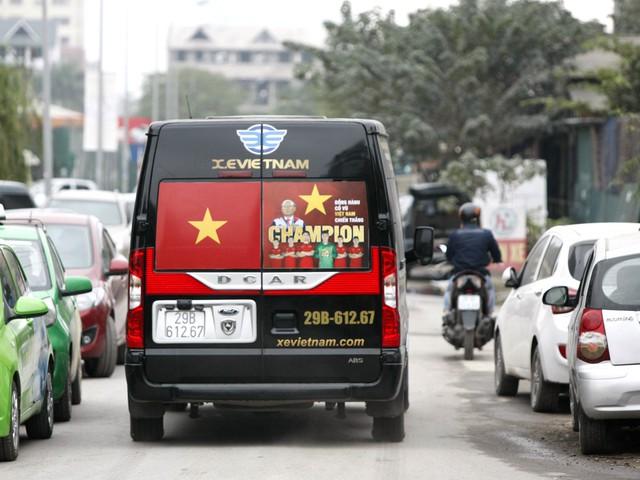 Tình yêu dành cho các cầu thủ U23 và huấn luyện viện Park Hang Seo hiện diện khắp mọi nơi.