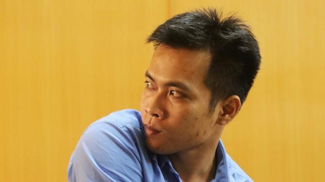 Bị cáo Trần Phú Tài tại phiên tòa sơ thẩm. Ảnh: Kỳ Hoa.