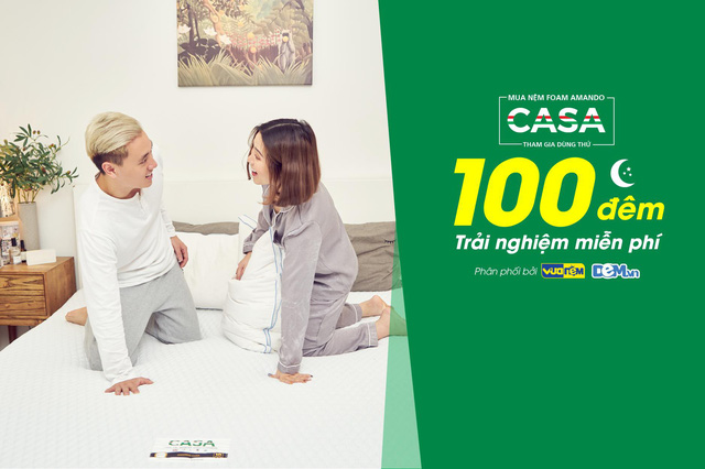 CASA tự tin về chất lượng với chương trình 100 đêm Trải nghiệm miễn phí