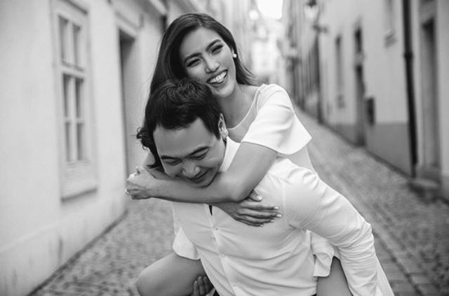 Khoảnh khắc hạnh phúc, giản dị của Lan Khuê và ông xã trong bộ ảnh được chụp ở Pháp.