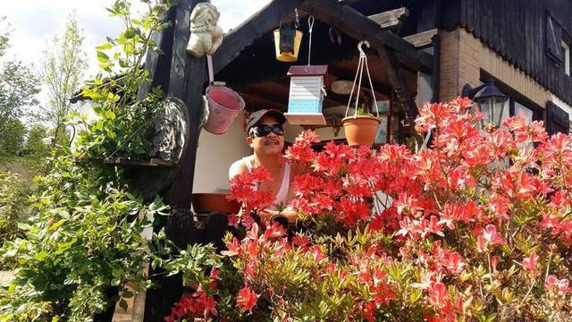 Nhờ có khu vườn này, nhà anh Hùng trở thành nơi tụ tập các thành viên trong gia đình, bạn bè tổ chức party và dạo quanh khi thời tiết trong xanh, mát mẻ.