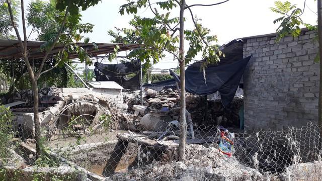 Ô nhiễm từ các cơ sở giặt bao bì trong khu dân cư.