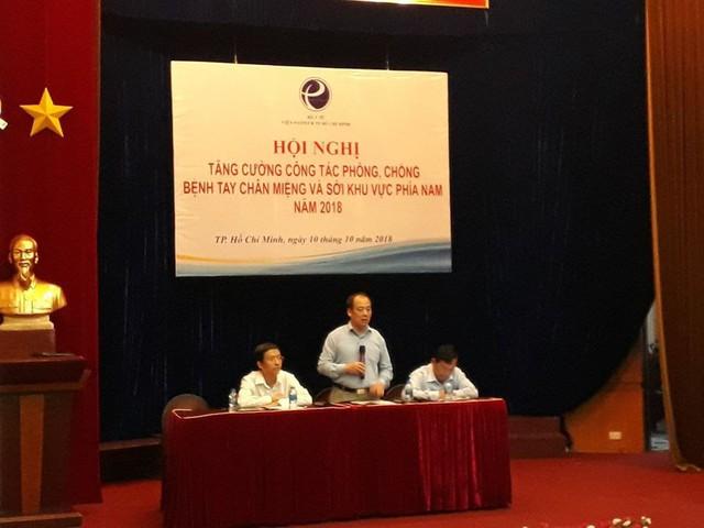 Hội nghị tăng cường công tác phòng chống bệnh tay chân miệng và sởi khu vực phía Nam.