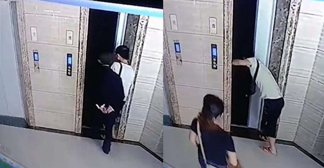 Zhou mở cửa thang máy khiến bố vợ chết thảm.