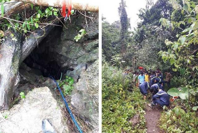 Hiện trường ba người tử vong do ngạt khí trong hang đá ở Thần Sa, Võ Nhai, Thái Nguyên