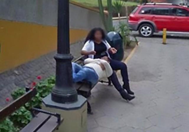 Bức ảnh chụp bởi Google Street View cách đây mấy năm vạch trần người vợ phản bội chồng. Ảnh: CEN.
