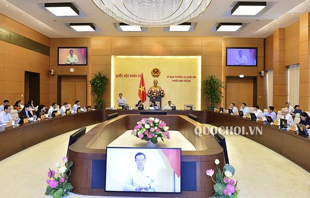 Sáng 15/10, Ủy ban Thường vụ Quốc hội khai mạc phiên họp thứ 28.     Ảnh: quochoi.vn