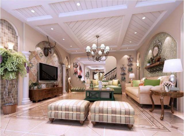 Không gian phòng khách với phong cách Vintage kết hợp cổ điển.