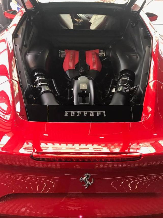 Ferrari 488 GTB là mẫu xe thứ hai của Ferrari sử dụng công nghệ động cơ tăng áp sau chiếc California T. Động cơ này có khả năng đáp ứng mau lẹ không thua kém so với loại nạp trực tiếp, có ưu điểm giảm được dung tích và tăng hiệu suất, tiết kiệm nhiên liệu.