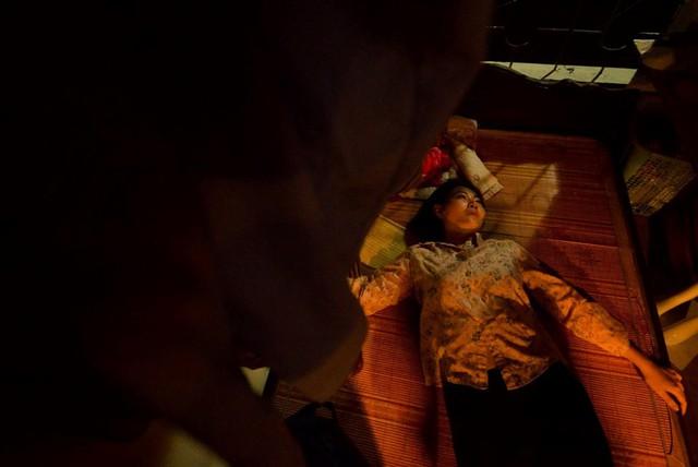 Cảnh quay hiếp dâm khiến Thanh Hương kiệt quệ sau khi hoàn thành.