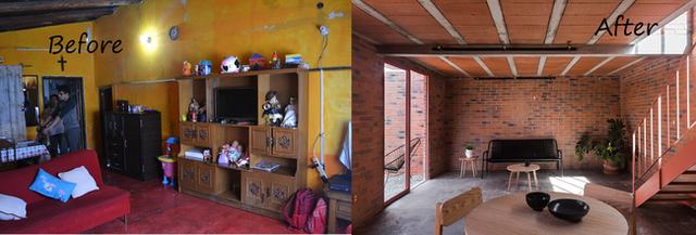 9. Ngôi nhà có tuổi thọ 40 năm ở Texcoco, Mexico, cách thành phố Mexico khoảng 25 km về phía đông bắc này đã được cải tạo lại theo phong cách cổ điển. Những yếu tố tự nhiên như không gian, ánh sáng, cửa thông gió được tăng lên tối đa để giúp ngôi nhà thông thoáng và sáng sủa hơn.