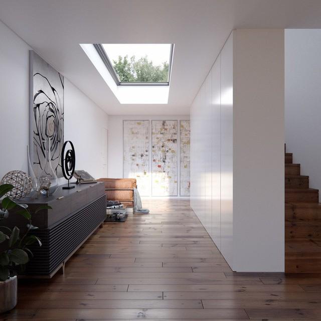 Tất cả các loại không gian khác nhau đều có thể được biến đổi bởi cửa sổ trời, từ hành lang dài…