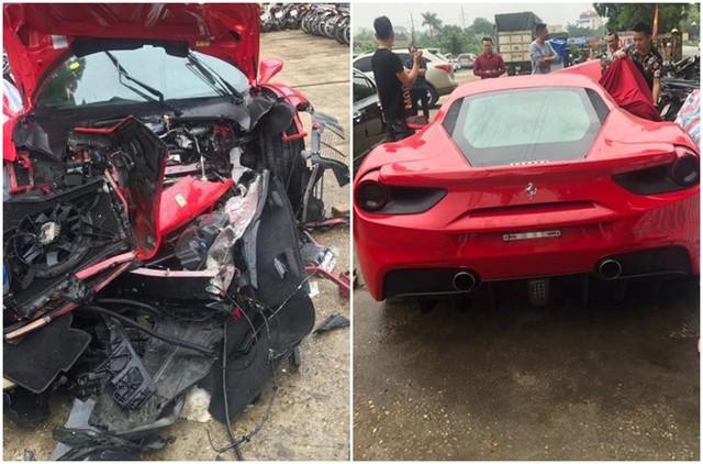 Siêu xe Ferrari 488 GTB của Tuấn Hưng bị tai nạn, ước tính sửa chữa hết khoảng 3 tỷ đồng