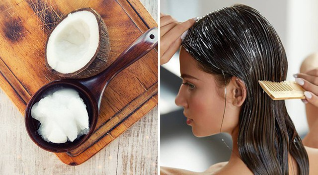 Đừng bôi quá nhiều dầu dừa vì nó có thể làm bết tóc.