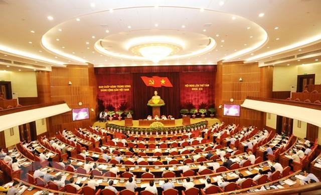 Trung ương thảo luận tại Hội trường về Báo cáo tình hình KT-XH và ngân sách nhà nước năm 2018, kế hoạch phát triển KT-XH và dự toán ngân sách nhà nước năm 2019.     Ảnh: TTX