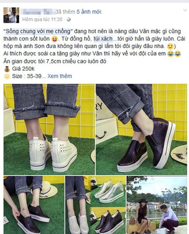 Đôi giày kết nối tình duyên giữa Minh Vân và nhân vật Sơn nhanh chóng được các shop thời trang tranh thủ tận dụng sức hút