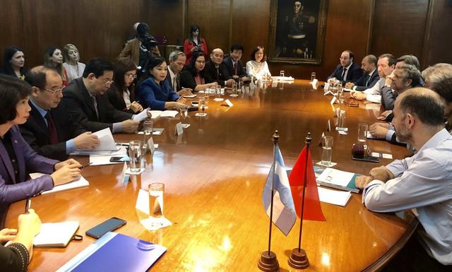 Hội đàm giữa lãnh đạo Bộ Y tế Việt Nam và lãnh đạo Bộ Y tế và Phát triển Xã hội Argentina.