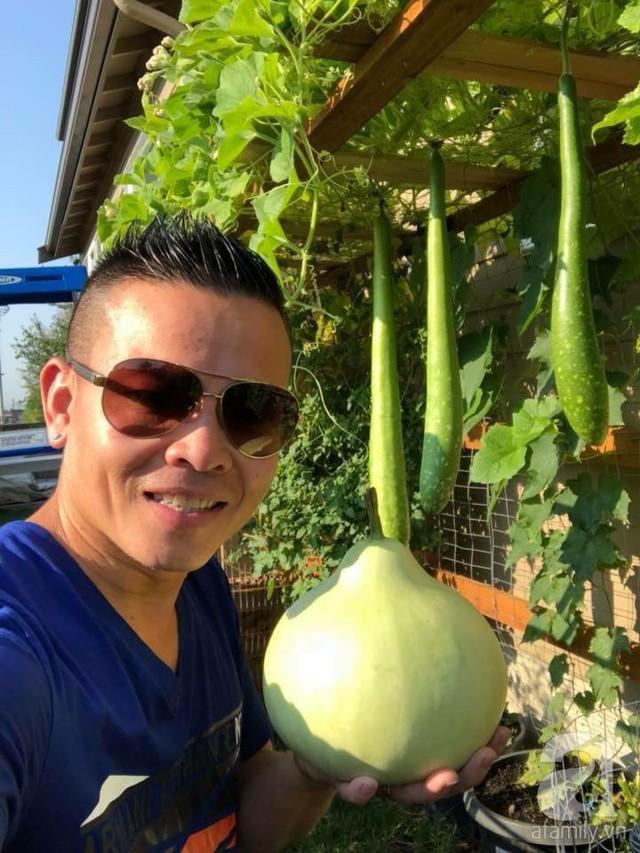 Anh Nhattan Bui bên khu vườn của gia đình mình tại Mỹ.