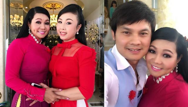 Nghệ sĩ Ngọc Huyền và Kim Tiểu Long dự cưới đồng nghiệp.