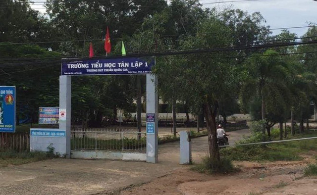 Trường Tiểu học, nơi phát hiện thi thể thiếu niên 14 tuổi. Ảnh: Tuấn Kiệt.