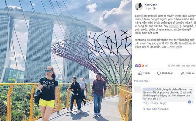 Đoạn chia sẻ của Kim Oanh (26 tuổi) về quan điểm đàn bà tại sao phải hơn nhau ở tấm chồng (Ảnh: Internet)