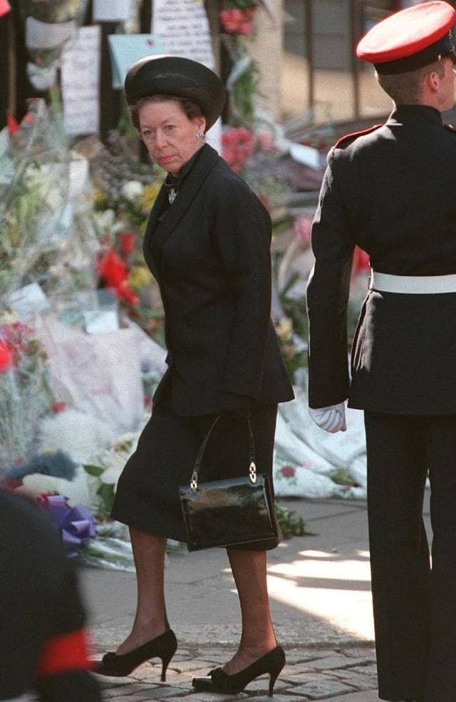 Công chúa Margaret tại lễ tang của Công nương Diana.