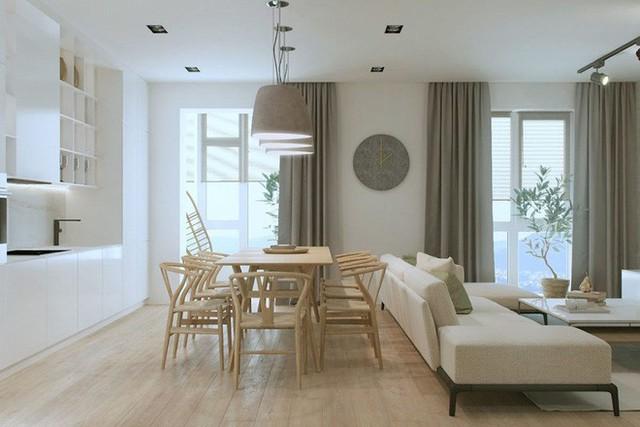 Mẫu thiết kế tạo ra một bầu không gian ấm cúng, đầy hơi ấm gia đình.