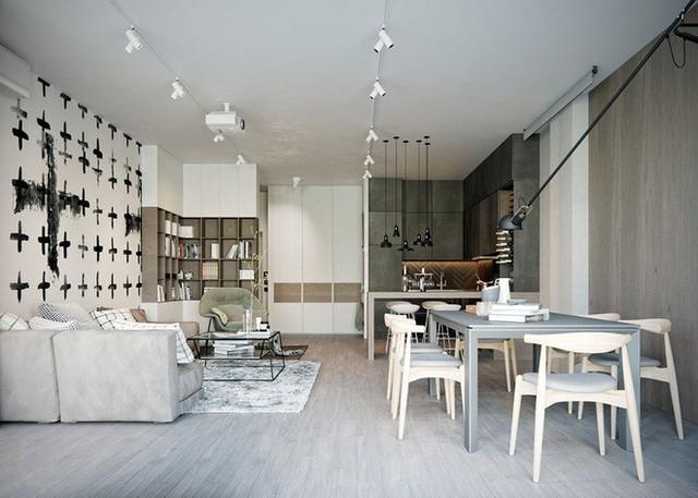 Thiết kế mở cho không gian sinh hoạt chung rất dễ, đa phần nó dựa vào việc lựa chọn và sắp xếp đồ nội thất của bạn.