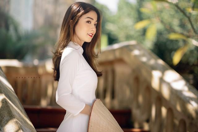 Hoa khôi ĐH Y dược Thái Nguyên 2018 là hot face trên mạng xã hội với gần 20.000 follow. Các bức ảnh của cô thu hút hàng nghìn lượt yêu thích trong cộng đồng mạng. Ảnh: Hưng Đỗ.