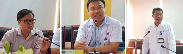 Từ phải sang: PGS.TS Lê Văn Quảng, ThS Phạm Tuấn Anh, TS Đào Văn Tú