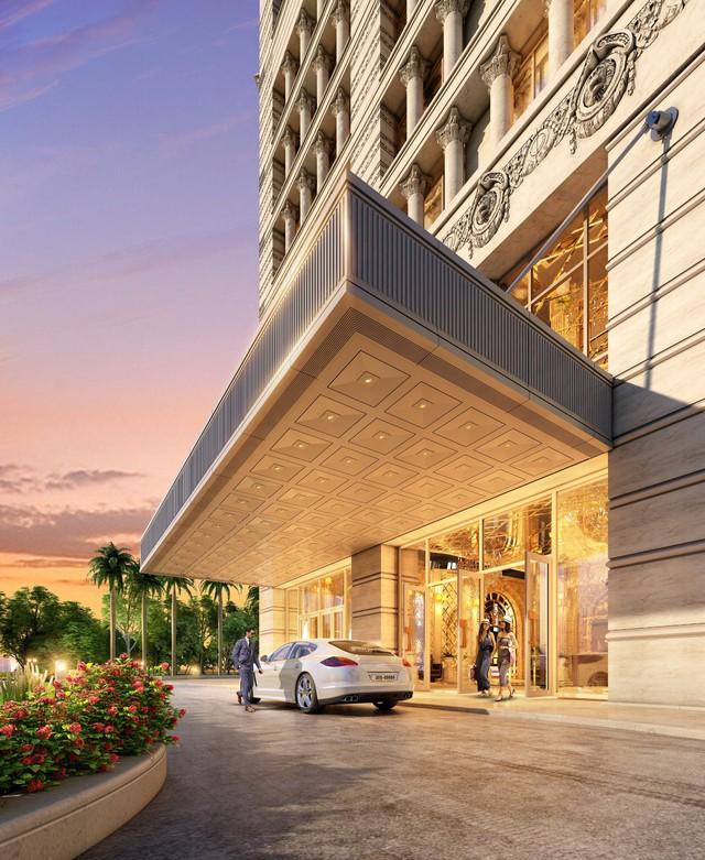 Các sảnh đón vào các toà nhà được thiết kế thông minh, hiện đại và sang trọng.