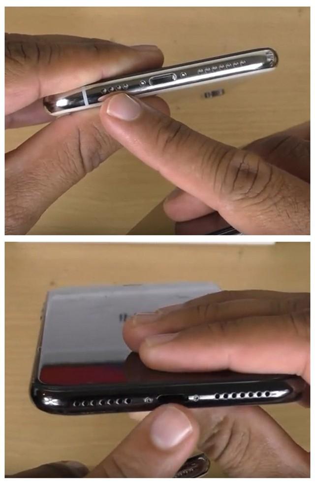Hình trên là iPhone xịn, dưới là iPhone nhái