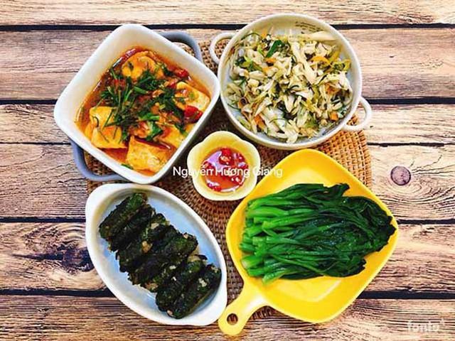 Vì nấu ra những món ngon từ niềm vui nên các món ăn đều rất đẹp mắt và ngon miệng.