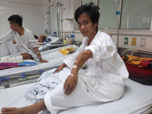 Anh Hiền đang cần phẫu thuật gấp vì khối u đã lan tỏa rộng. Ảnh PT